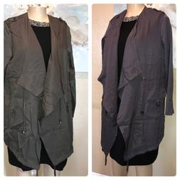 Women's Plus Size Jacket and coat DALIA Open Front Draped ja