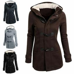 2017 Women's Hooded Long Warm Coat Jacket Tops Outwear Trenc