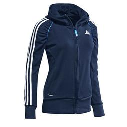 Adidas Performance Climalite Womens Zip Hooded Jumper Navy J
