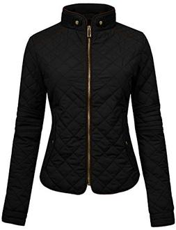NE PEOPLE Womens Lightweight Quilted Zip Jacket, Large, NEWJ