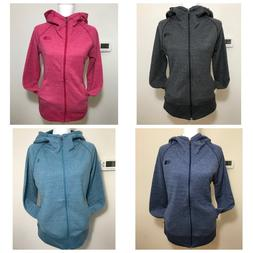The North Face Women's Terry Full Zip Hoodie Jacket Grey Pin