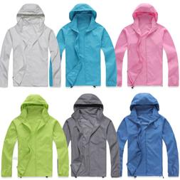 Women Mens Rain Coat  Hoodies Jogging Hiking Waterproof Wind