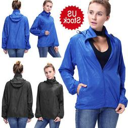 Women Waterproof Windproof Jacket Outdoor Bicycle Sports Rai