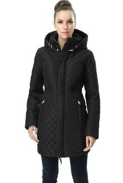 BGSD Women's Angela Water Resistant Quilted Parka Coat