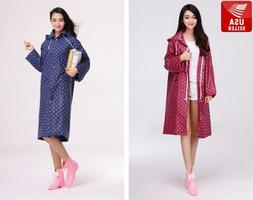 beautiful polka dot eva womens waterproof raincoat