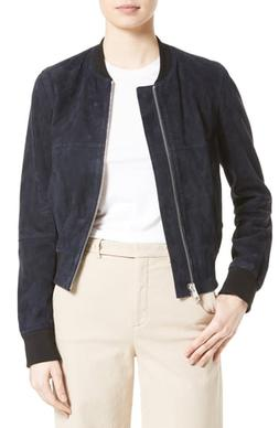 Women's Theory Daryette S Benna Suede Bomber Jacket, Size Me