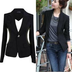 Fashion Casual Slim Solid Suit Blazer Coat Jacket Outwear Wo