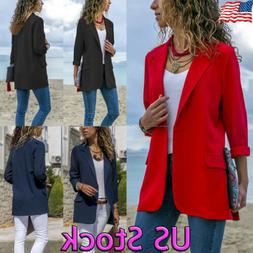 fashion women long sleeve cardigan casual lapel
