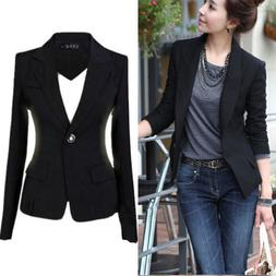 fashion women s one button slim casual