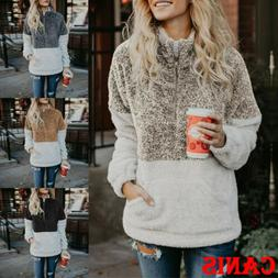 fleece fur jacket outerwear tops winter warm