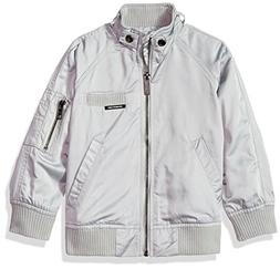 Members Only Girls' Big Long Sleeve Boyfriend Jacket, Silver