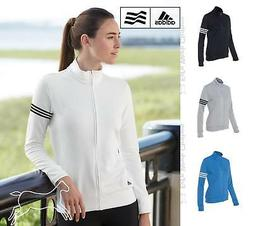 adidas Golf Women ClimaLite 3-Stripes French Terry Full-Zip