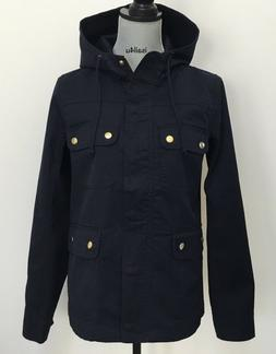 j crew factory resin coated twill jacket