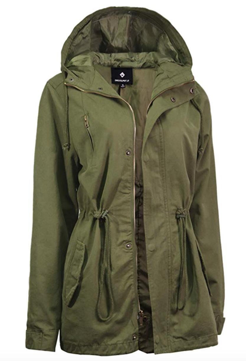 Top Lightweight Military Parka Large Olive New