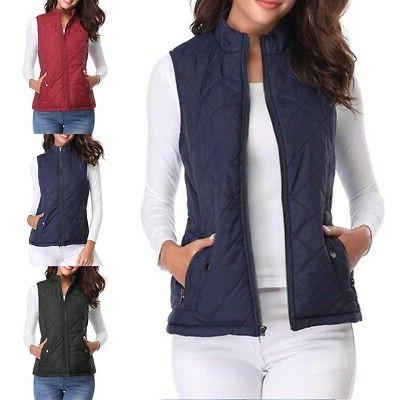 autumn winter women s quilted padding vest