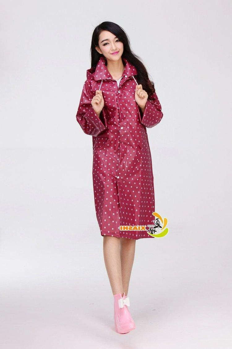 Beautiful Polka EVA Women's Waterproof Raincoat With