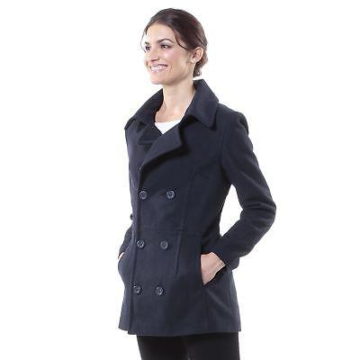 emma womens peacoat jacket wool blazer double