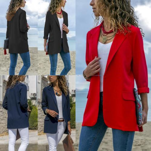Fashion Sleeve Cardigan Lapel Blazer Suit