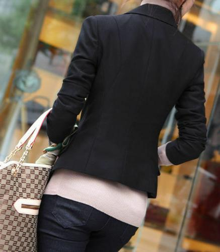 Fashion Women's One Slim Business Suit Coat Outwear