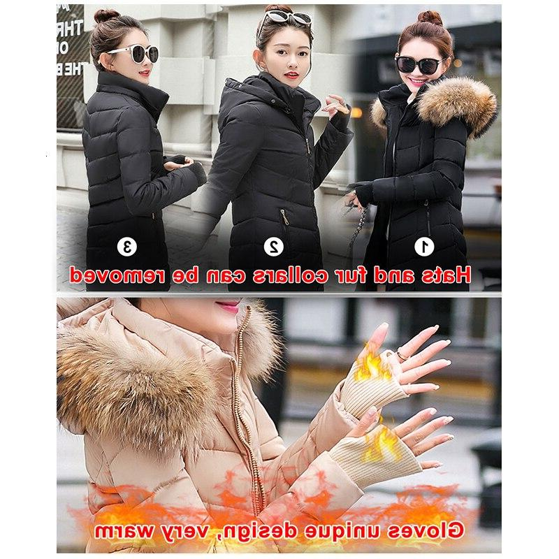 fluffy <font><b>Womens</b></font> Coat Slim Warm Hooded Parkas 2019 New Collection