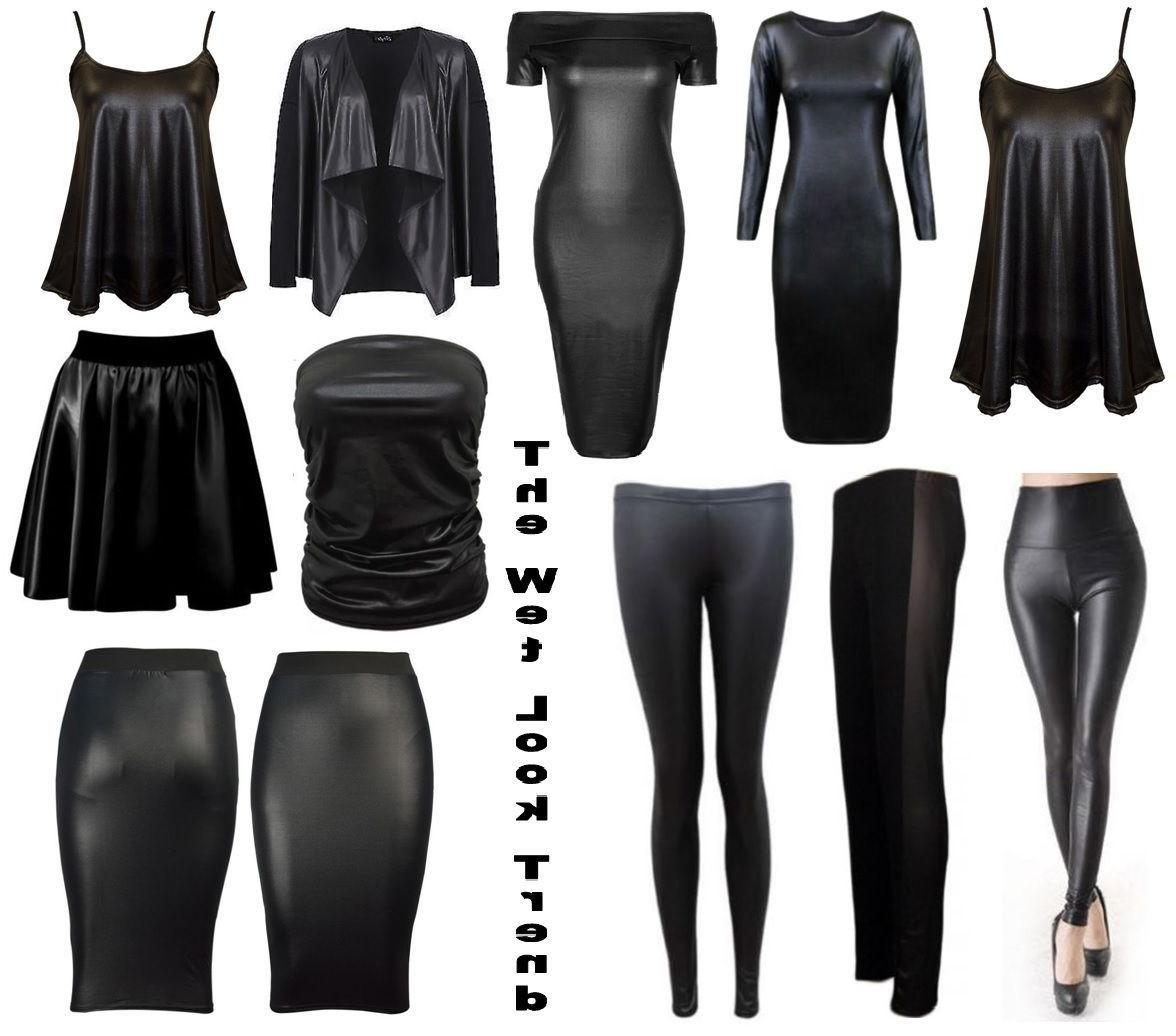Leather Skirt PVC Top