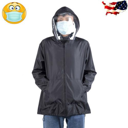 Men Outdoor Coat Face Protective Mask