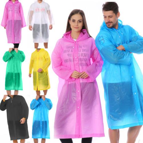 Men Women PE Coat Poncho Rainwear