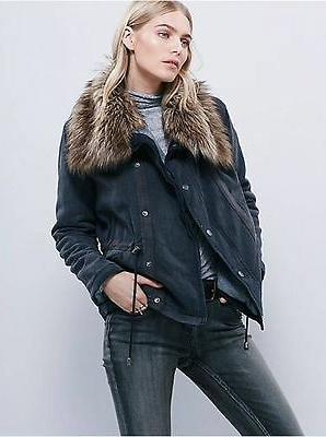NEW WOMEN'S FREE PEOPLE NAVY BLUE SECURE THE PERIMETER ARMY