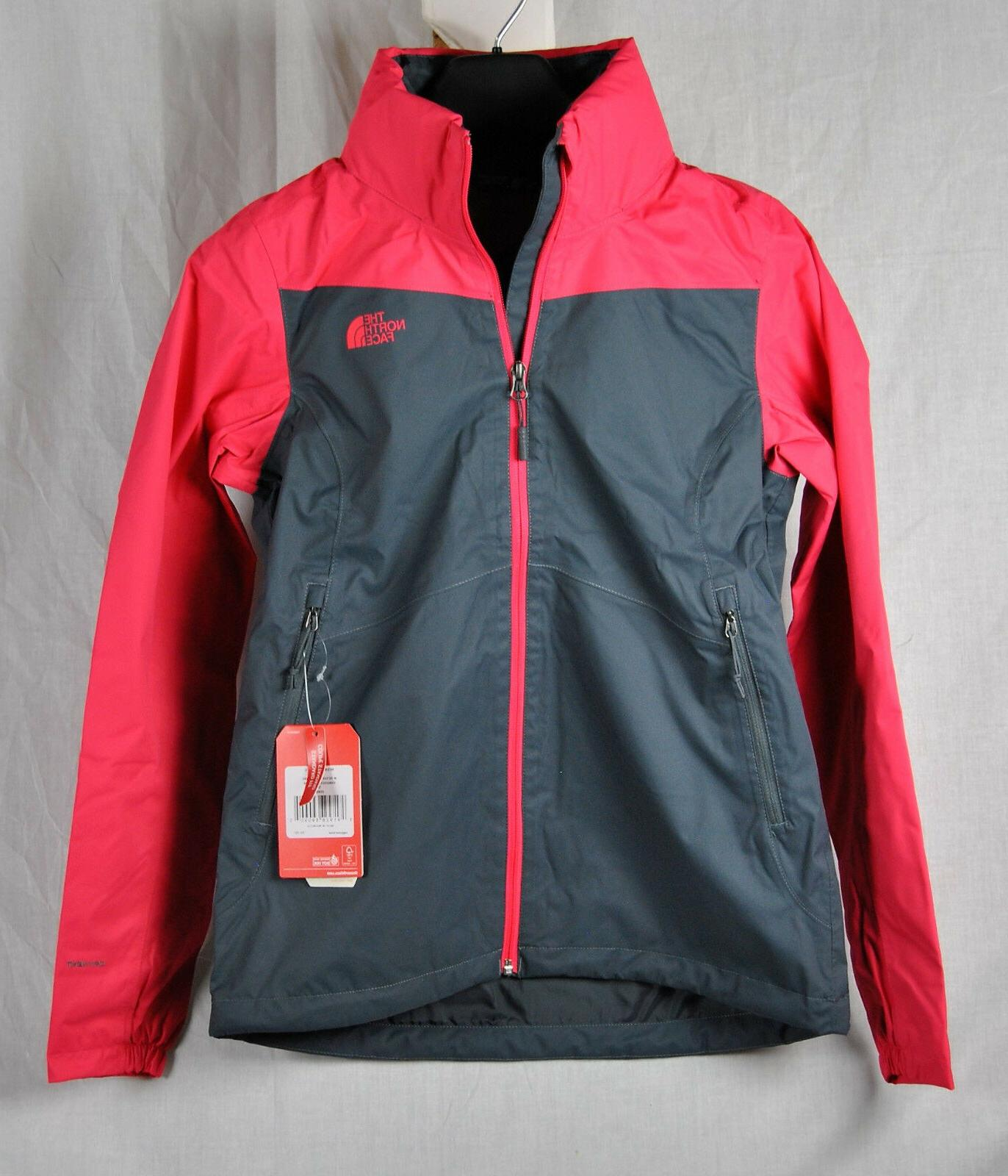 North Face RESOLVE PLUS Jacket Atomic PINK Grey AUTHENTIC Wo