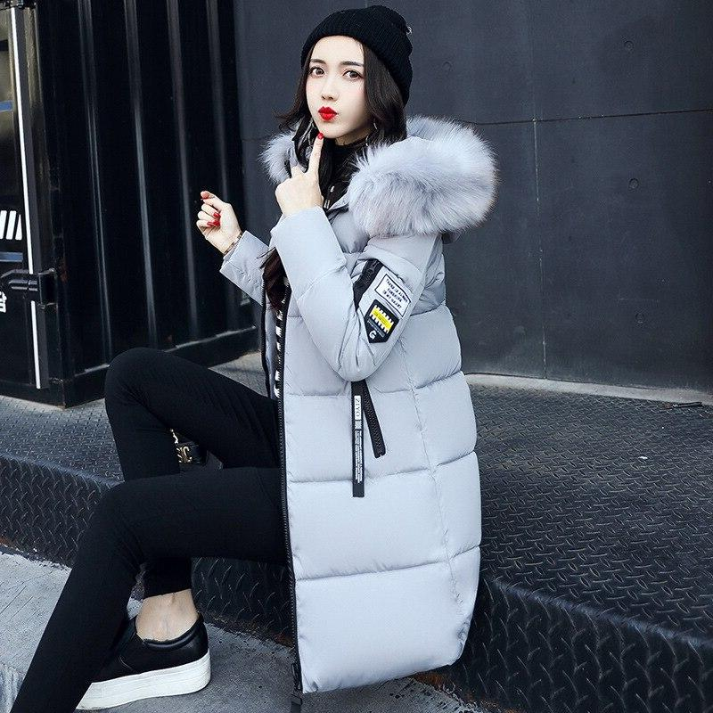 Parka 2019 Coats Long Fur Thick Warm Female Coat