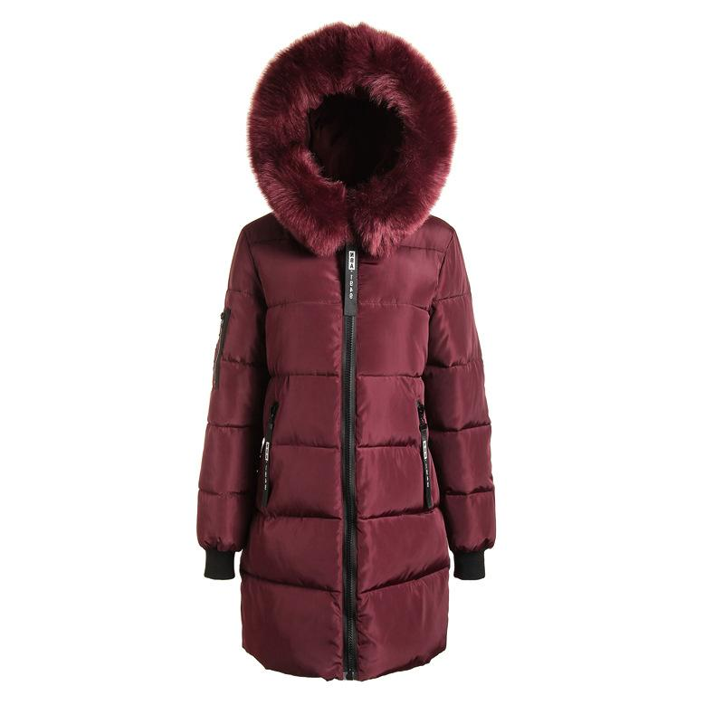 Parka 2019 Coats Long Cotton Thick Warm Female Overcoat Coat