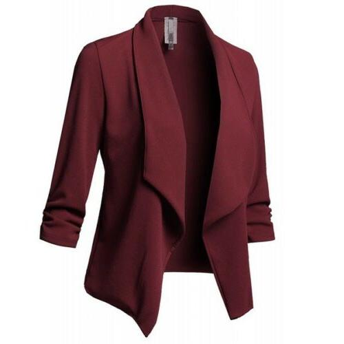 Women Jacket Outwear Sleeve Formal Coat