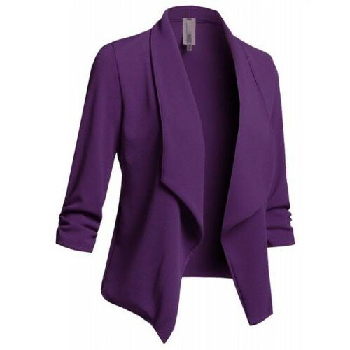Women Slim Jacket Long Sleeve Coat