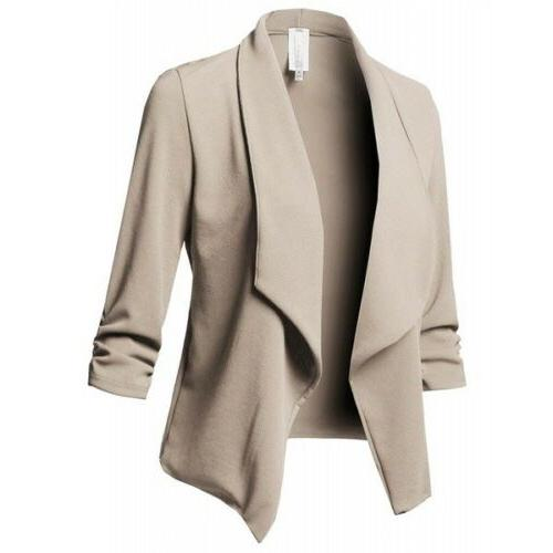 Women Jacket Top Outwear Sleeve Career Short Coat