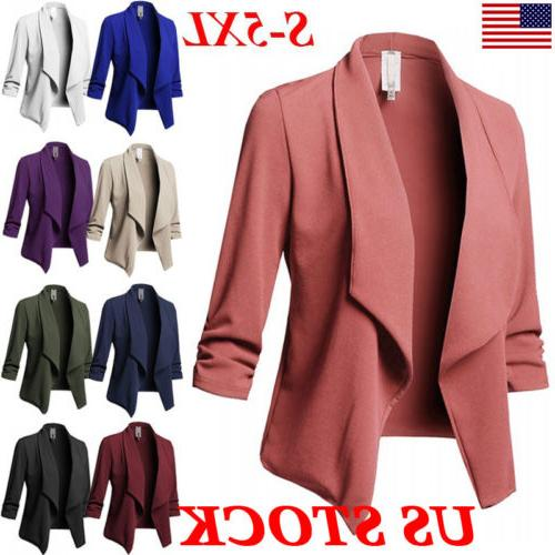 plus size women collar suit jacket coat
