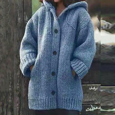 Plus Size Women Knitted Cardigans Winter Warm Coat