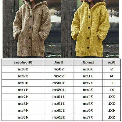 Plus Women Knitted Sweater Winter Jacket