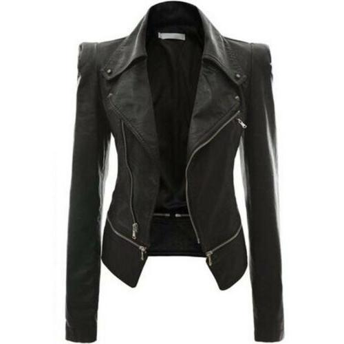 Women's Slim Fit Biker Casual Coat Tops