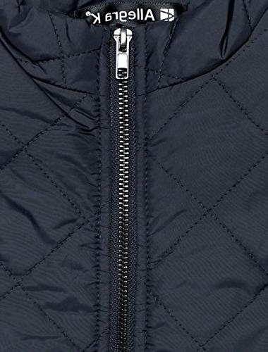 Allegra Stand Collar Gilet Zip Dark Large