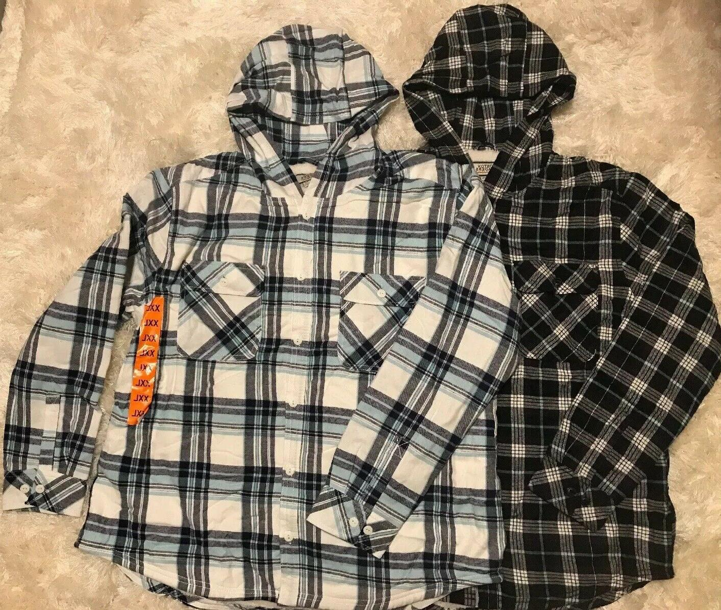 traders women s hooded flannel sherpa button