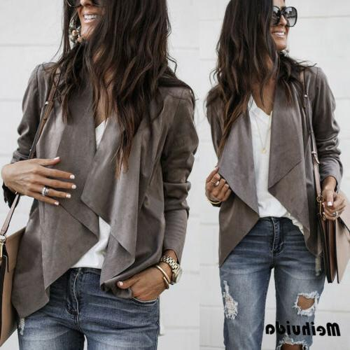 US Sleeve Cardigan Casual Suit Top Outwear