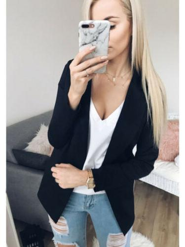 US Sleeve Cardigan Jacket Casual Suit Coat Outwear