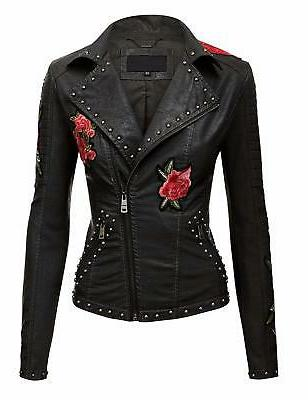Lock and Love WJC1496 Womens Floral Embroidered Faux Leather