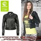 Women Bomber Leather Biker Jacket Motorcycle Zipper Top Casu