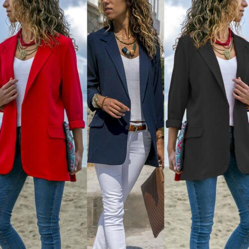 Women Elegant Slim Casual Jacket Coat