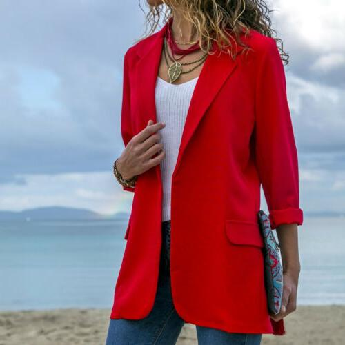 Women Elegant Casual Blazer Suit Jacket