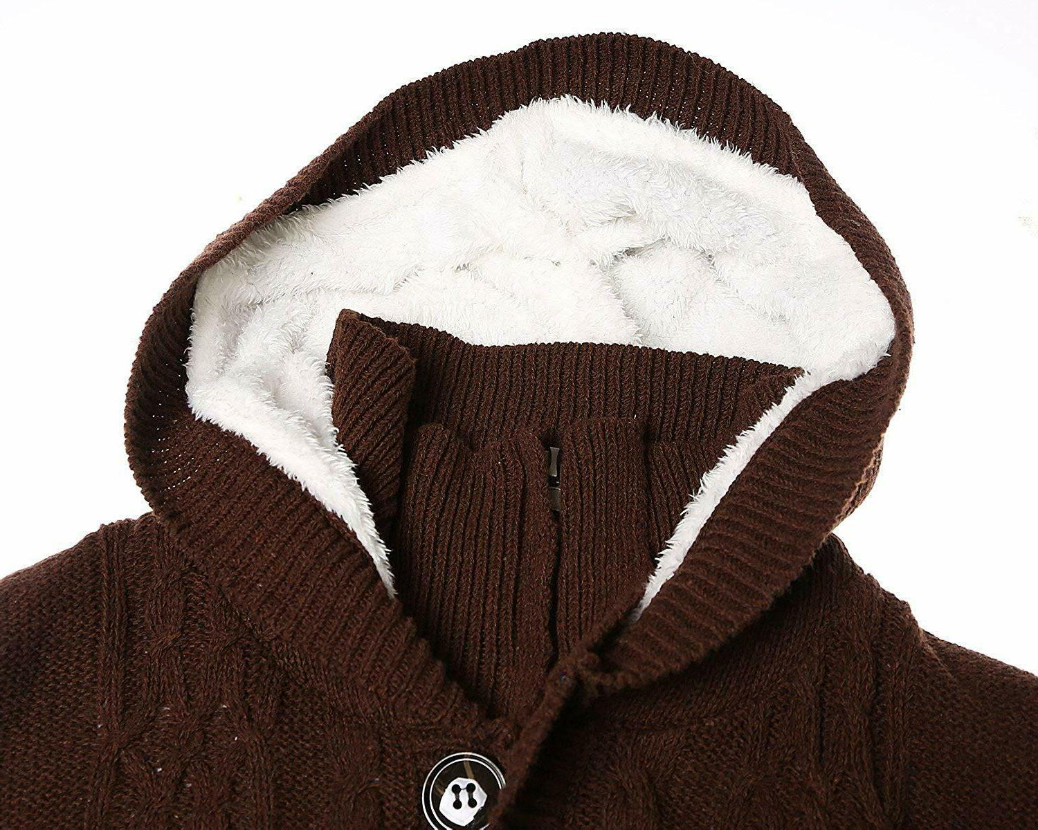 Sidefeel Cardigans Cable Sweater Coat