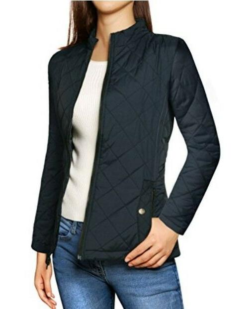 Allegra K Women Long Sleeve Quilted Size M,