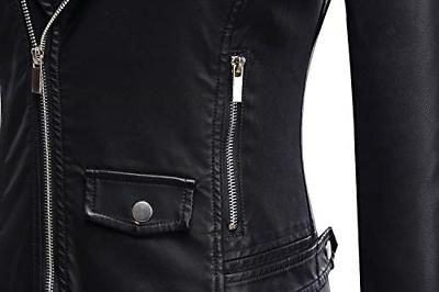 Tanming Motorcycle PU Faux Leather Jacket