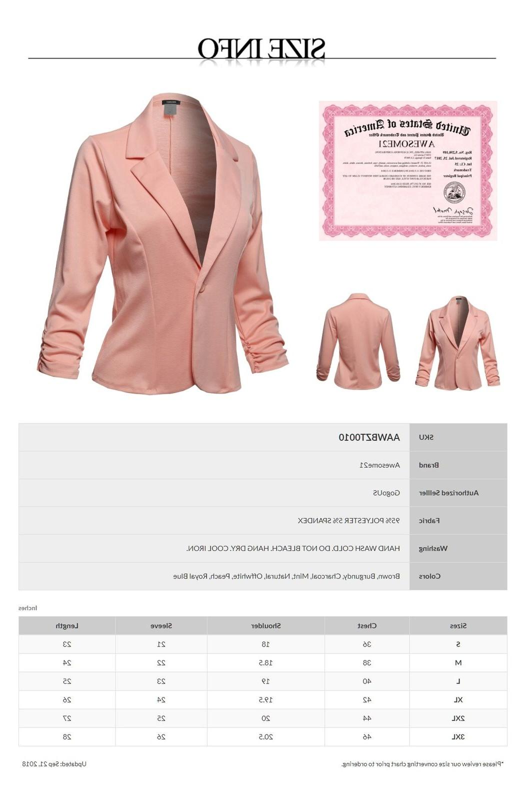 FashionOutfit One Button Jacket-Made in